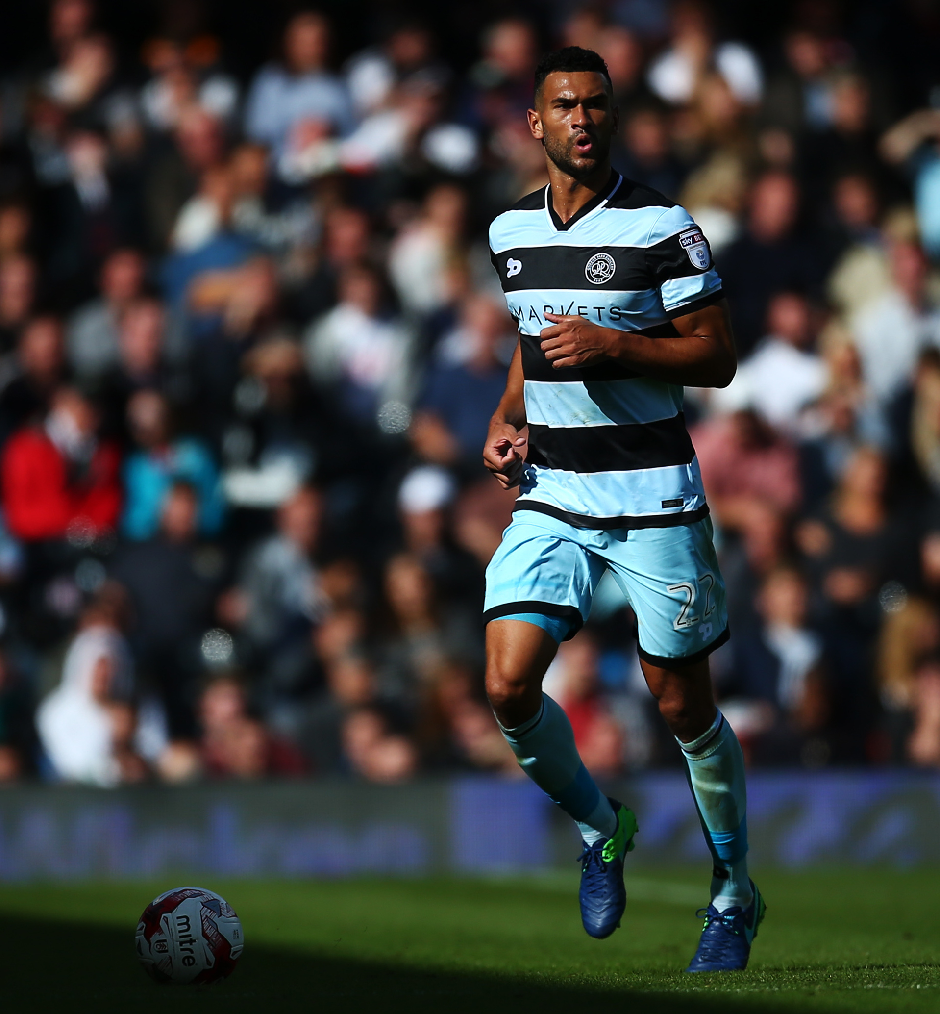 LONDON, ENGLAND - OCTOBER 01:  Steven Caulker of QPR in action during the Sky Bet Championship match between Fulham and Queens Park Rangers at Craven Cottage on October 1, 2016 in London, England.  (Photo by Jordan Mansfield/Getty Images).