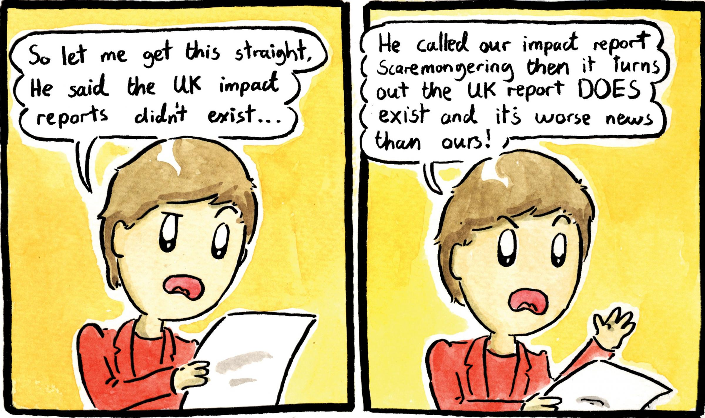 Nicola Sturgeon learns the latest about the UK's Brexit impact assessments
