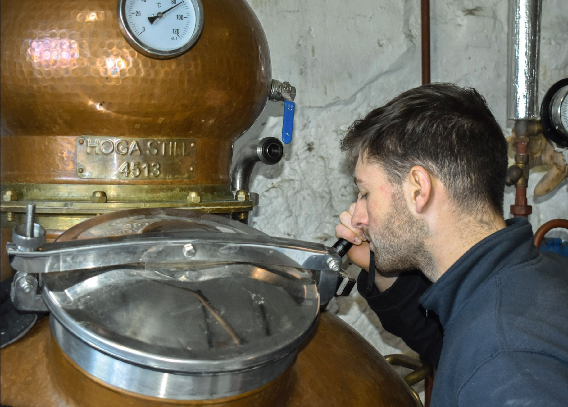 Louis Wright, the company's new head of production is currently undergoing training for his new role with Strathearn Distillery