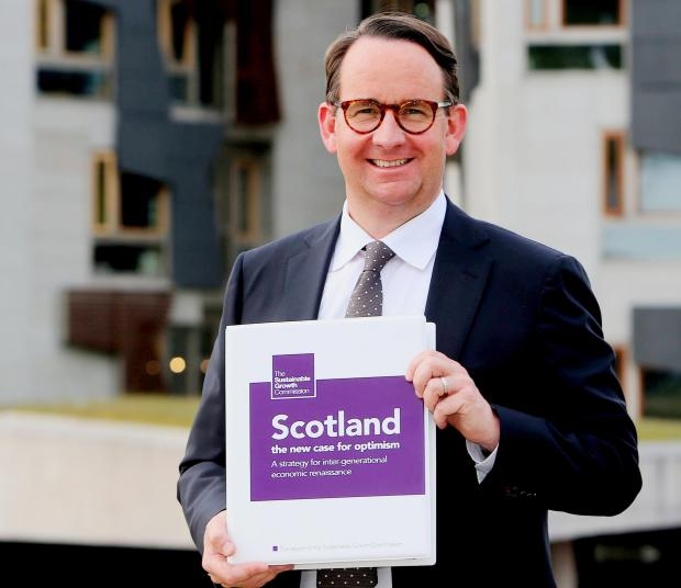 The National: EDINBURGH: The Sustainable Growth Commission report from commission chair Andrew Wilson. EMBARGOED til 00.00hrs 23.5.18.POOL Pic Gordon Terris/The Herald.22/5/18.