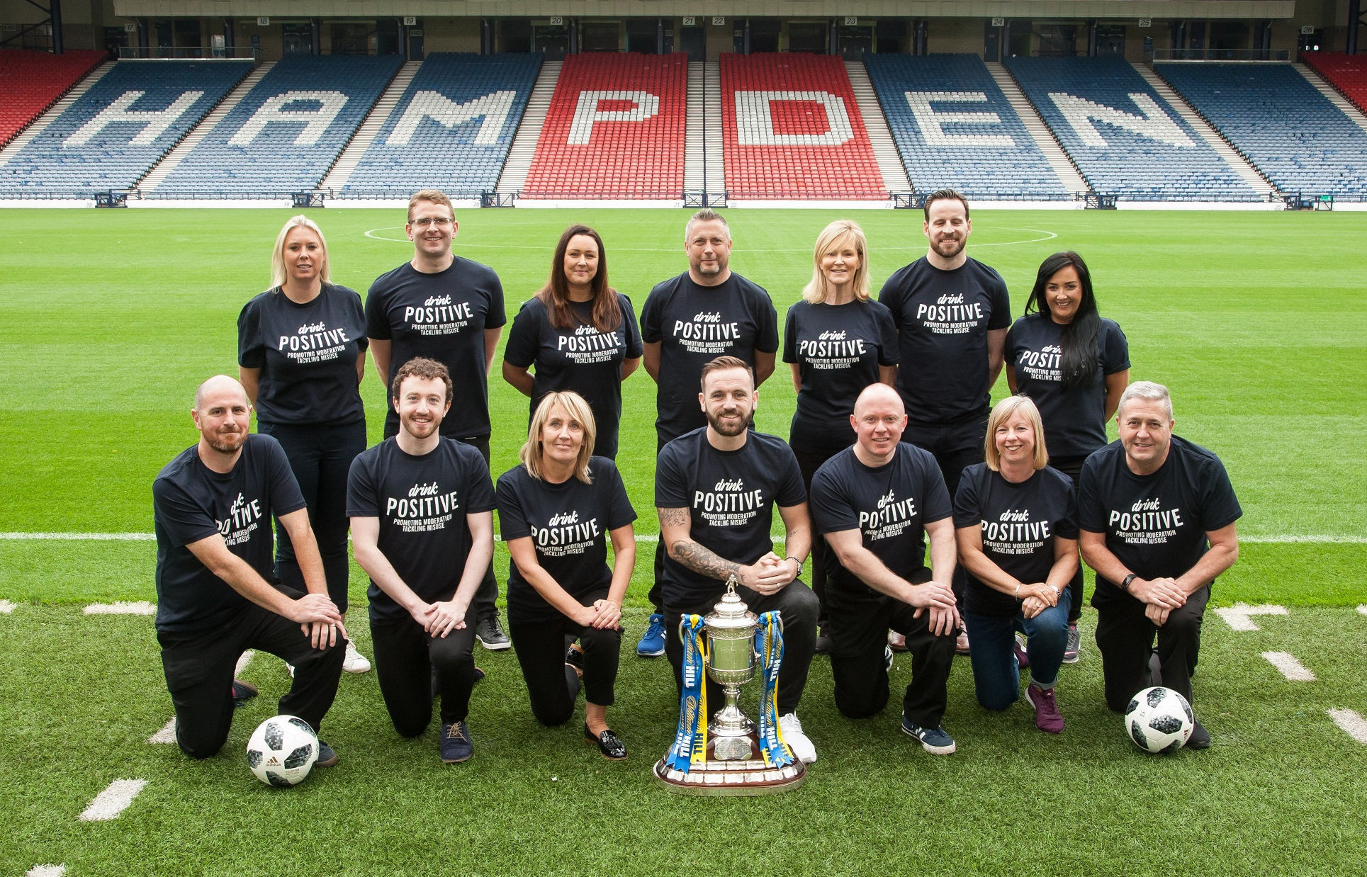 The campaign was launched at Hampden Park with James McFadden. Photograph: Tina Norris