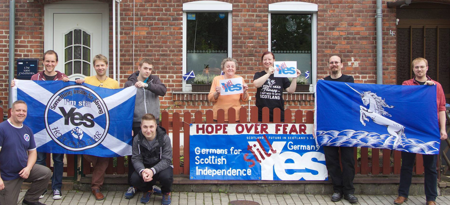 The demo is being organised by Germans for Scottish Independence