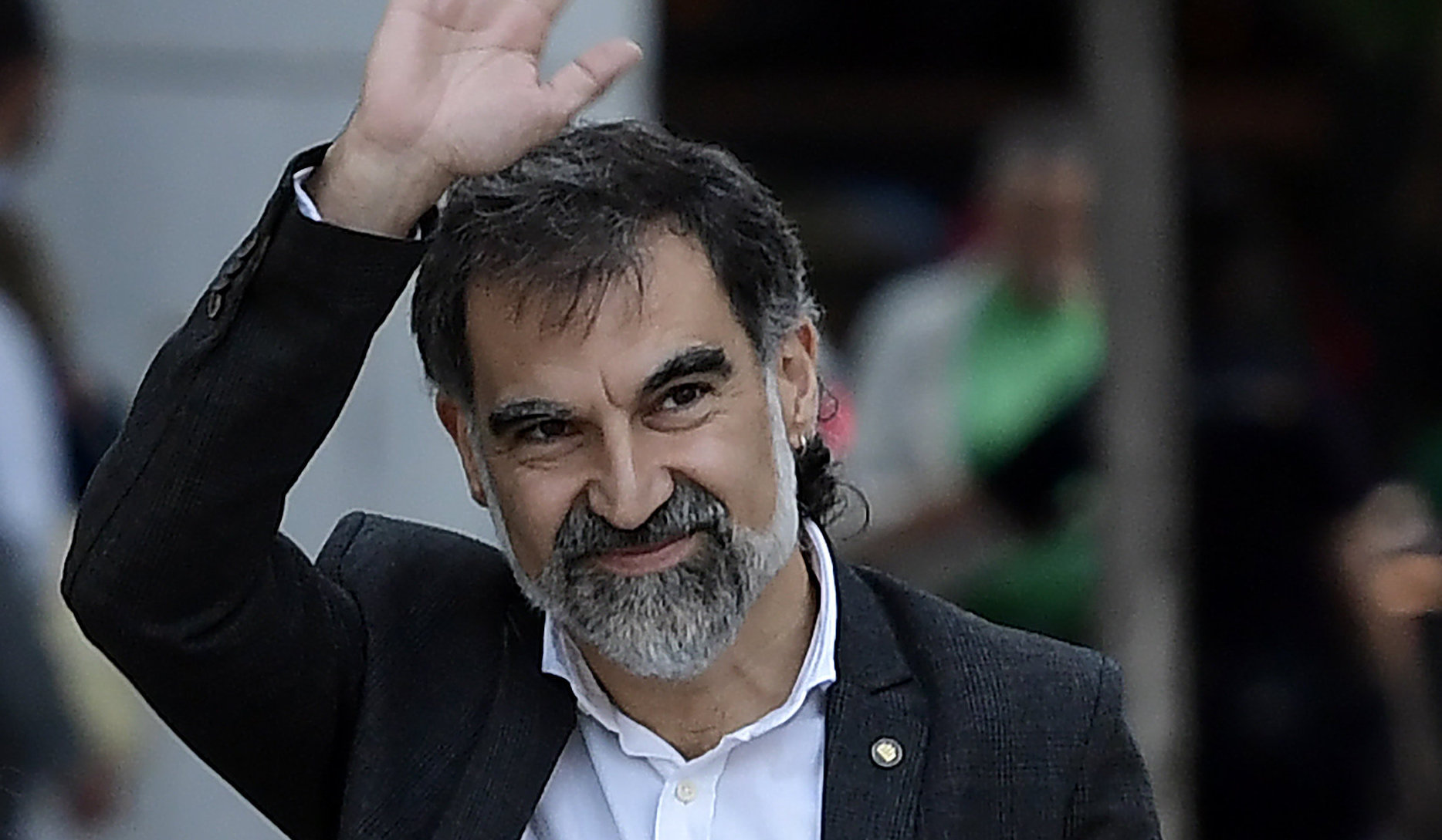 Jordi Cuixart has spent the past year locked up awaiting trial