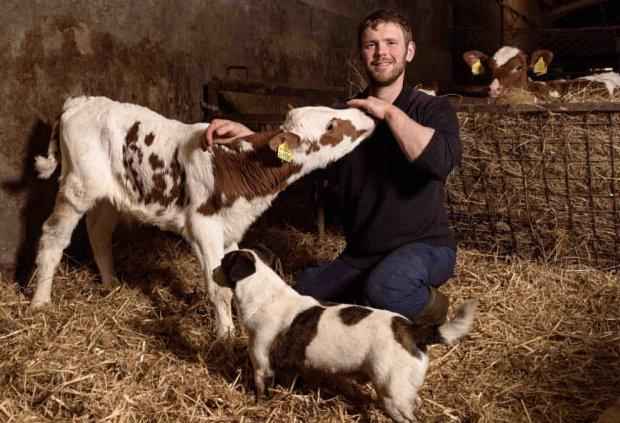 Bryce Cunningham has 80 cows and support two other family farms in Ayrshire