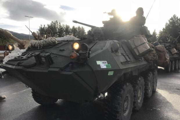 The National: A Norwegian armoured vehicle in a Nato exercise