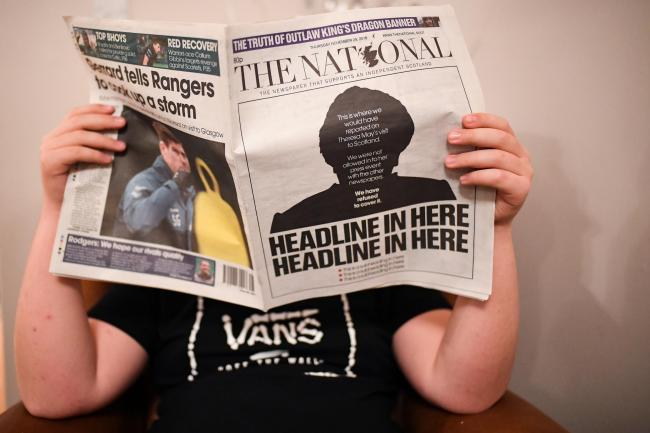 Viral National front page nominated for Scottish Press Award