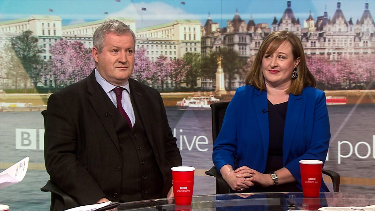 The airtime of SNP politicians such as Ian Blackford, pictured with Katie Perrior during Politics Live, on BBC programmes has increased, but has the broadcaster gone far enough?
