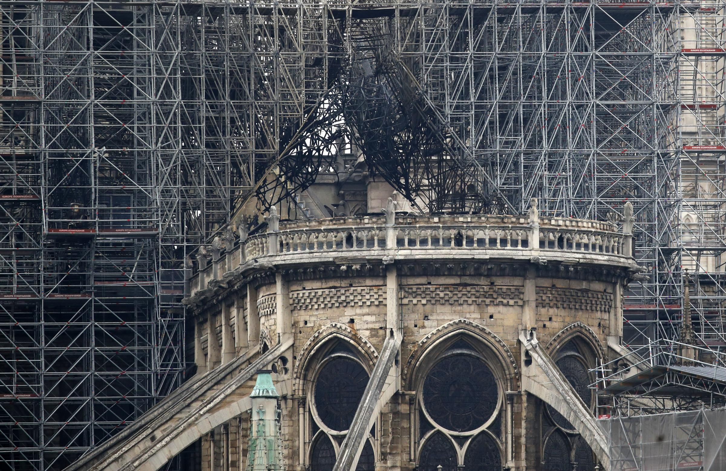 The Notre Dame was struck by a fire yesterday