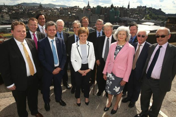European Policy Centre chief and member of Nicola Sturgeon's Standing Council for Europe, Fabian Zuleeg (far left), outlined the benefits of an independent Scotland joining the EU. Photograph: Gordon Terris