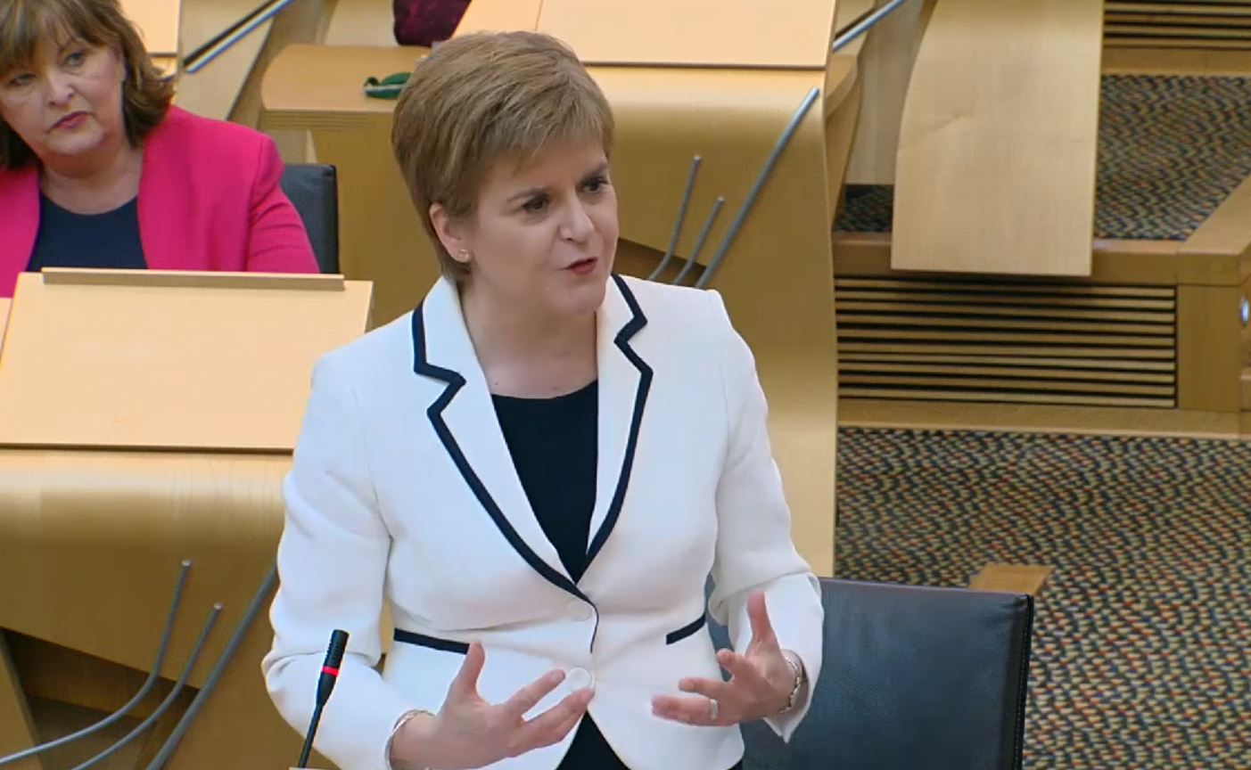 Nicola Sturgeon outlined her plans to MSPs