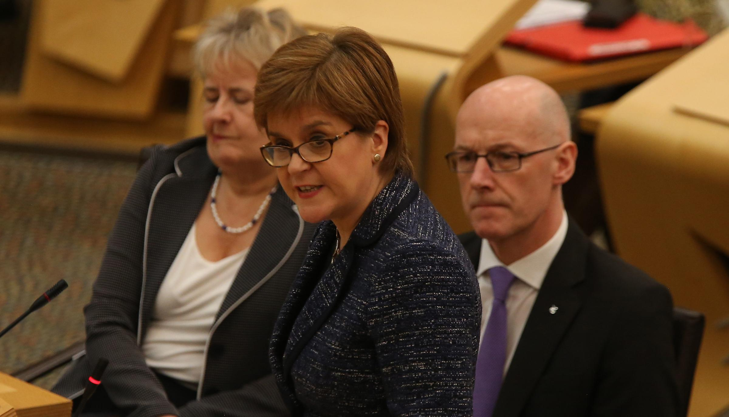 Nicola  Sturgeon was speaking during FMQs