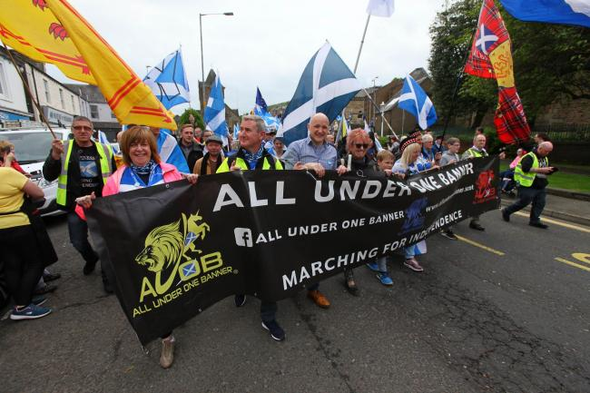 The AUOB marches hit new heights this year, with record numbers turning out for their marches Photograph: Colin Mearns. Photograph: Colin Mearns